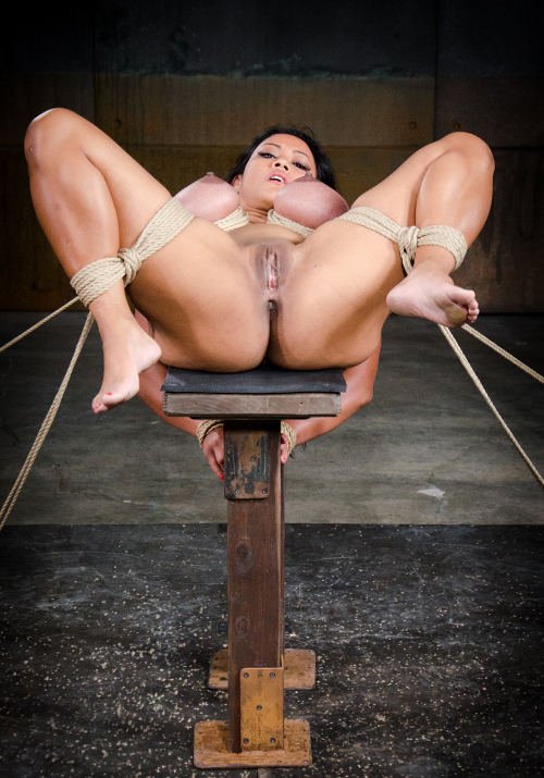 Hot Sub Slut Hardtied To A Bench